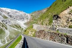 Alpi Passo Stelvio delle montagne Immagini Stock Libere da Diritti