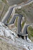 Alpi Passo Stelvio delle montagne Immagini Stock