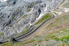 Alpi Passo Stelvio delle montagne Fotografia Stock