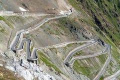 Alpi Passo Stelvio delle montagne Fotografia Stock Libera da Diritti