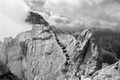 Alpi - picco di Watzmann Fotografie Stock