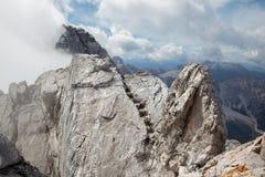 Alpi - picco di Watzmann nella nuvola Fotografia Stock Libera da Diritti