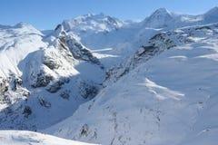 Alpi piene di sole Fotografia Stock Libera da Diritti