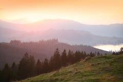 alpi piene di sole Fotografie Stock