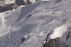 alpi Pista nella neve Fotografia Stock