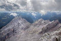 Alpi - prospettiva dal picco di Watzmann Fotografia Stock