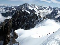 Alpi rampicanti di Mont Fotografia Stock