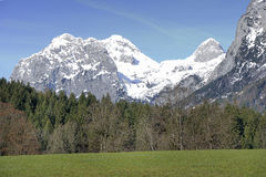 Alpi, ramsau-hintersee Fotografia Stock Libera da Diritti