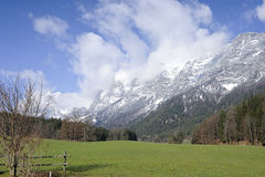 Alpi, ramsau-hintersee Immagine Stock Libera da Diritti