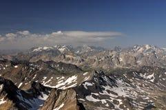 Alpi, regione di Francia, Italia, Svizzera Fotografia Stock Libera da Diritti