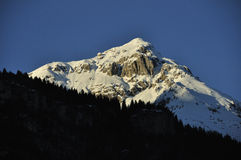Alpi ricoperte neve Fotografia Stock Libera da Diritti