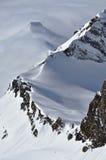 Alpi ridgeAustrian della bella montagna innevata Fotografia Stock