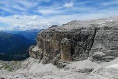 Alpi rocciose belle della dolomia Fotografie Stock