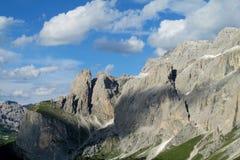 Alpi rocciose belle della dolomia Fotografia Stock