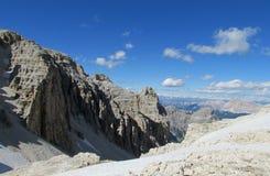Alpi rocciose belle della dolomia Immagini Stock Libere da Diritti