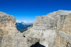 Alpi rocciose belle della dolomia Fotografia Stock Libera da Diritti