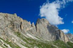 Alpi rocciose belle della dolomia Fotografie Stock Libere da Diritti