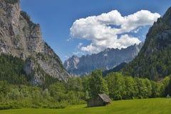 Alpi romantiche del paesaggio, Austria Fotografia Stock