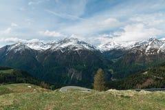 Alpi Snow-capped Fotografia Stock Libera da Diritti