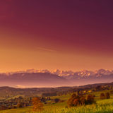 Alpi Snow-capped Fotografie Stock Libere da Diritti