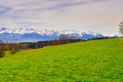 Alpi Snow-capped Fotografia Stock