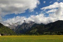Alpi soleggiate di estate Fotografia Stock Libera da Diritti