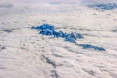 Alpi sopra le nuvole Immagine Stock