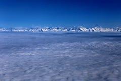 Alpi sopra le nuvole Immagine Stock Libera da Diritti