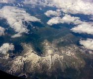Alpi sopra le nuvole Fotografie Stock