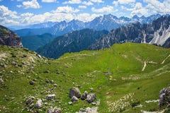 Alpi stupefacenti della dolomia Fotografie Stock