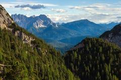 Alpi stupefacenti della dolomia Immagini Stock Libere da Diritti