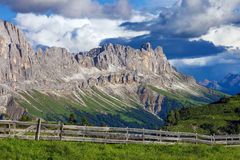 Alpi stupefacenti della dolomia Immagine Stock