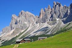 Alpi su estate in dolomia Immagini Stock Libere da Diritti