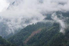 Alpi subito dopo la pioggia Immagini Stock