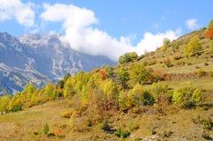 Alpi sul confine Italia-Francia Fotografia Stock