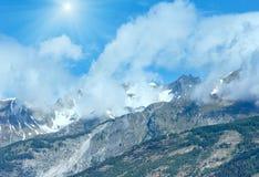 Alpi sunshiny del paesaggio della montagna di estate, Svizzera Immagine Stock Libera da Diritti