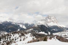 Alpi superiori Dolomiti di paesaggio dell'ascensore di sci della montagna Fotografia Stock Libera da Diritti