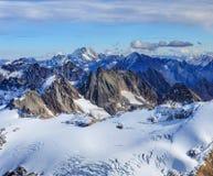 Alpi in Svizzera nell'orario invernale Fotografia Stock Libera da Diritti