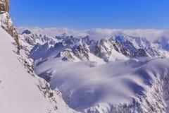 Alpi in Svizzera nell'orario invernale Immagini Stock Libere da Diritti