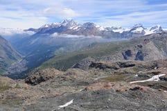 Alpi svizzere. Immagini Stock