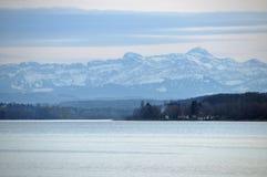 Alpi svizzere al lago di Costanza Fotografie Stock