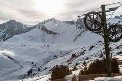 Alpi svizzere al tramonto Fotografie Stock Libere da Diritti