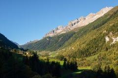 Alpi svizzere, Bedretto Walley Fotografia Stock