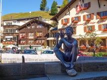 Alpi svizzere, centro di Andermatt Fotografia Stock