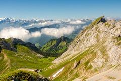Alpi svizzere da Pilatus Immagini Stock Libere da Diritti