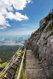 Alpi svizzere dal Mt Pilatus e lago lucerne Immagine Stock Libera da Diritti