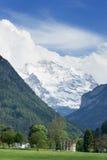 Alpi svizzere del paesaggio da Interlaken Svizzera Fotografie Stock