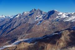 Alpi svizzere del panoramaof stupefacente, Svizzera Immagine Stock