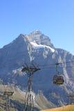 Alpi svizzere della regione di Jungfrau Fotografie Stock Libere da Diritti