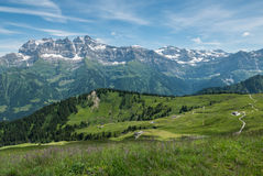 Alpi svizzere di estate, Champery Immagini Stock Libere da Diritti